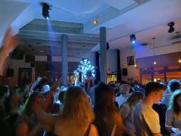 Nightlife party in antwerp with dj